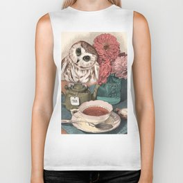 Morning Tea Owl Biker Tank