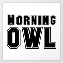 Morning Owl Design Art Print
