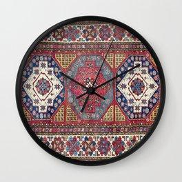 Shahsavan Azerbaijan Antique Tribal Persian Rug Print Wall Clock