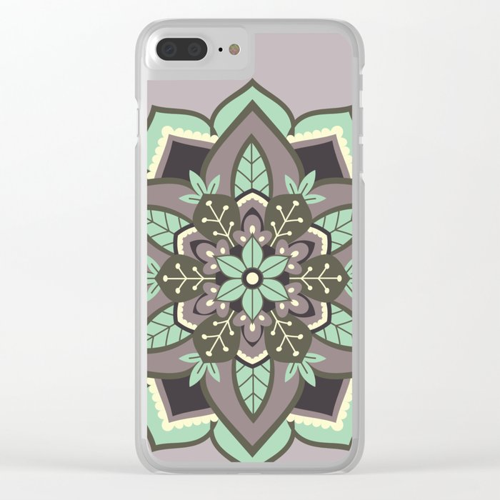 Elven Mandala Clear iPhone Case