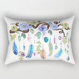 Wild Wood Roses And Twisted Branches Spirit Gazer Rectangular Pillow