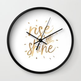 RISE AND SHINE Sign, Bedroom Decor,Home Decor,Living Room Decor,Motivational Quote,Rise And Grind,Qu Wall Clock