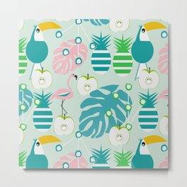 Modern tropical summer vibes Metal Print