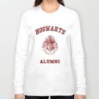 hogwarts Long Sleeve T-shirts featuring Hogwarts Alumni by RinRin