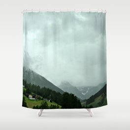 on the way: Innsbruck, Austria Shower Curtain