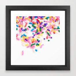 Ice Cream & Sprinkles Framed Art Print