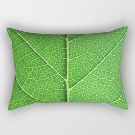 Green Vein Life Rectangular Pillow