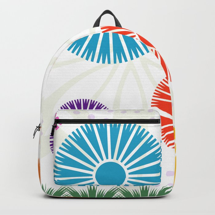 Spring Retro Flowers Backpack