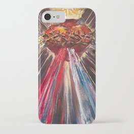 Sacred Heart of Jesus of Divine Mercy (blood and water) iPhone Case