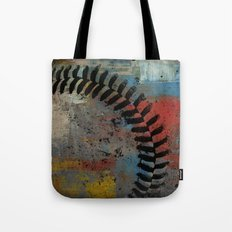 Painted Baseball Tote Bag