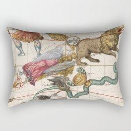 Vintage Constellation Map - Star Atlas - Leo - Virgo Rectangular Pillow