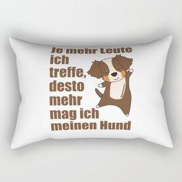 Australian Shepherd Dog Does Not Like People Rectangular Pillow