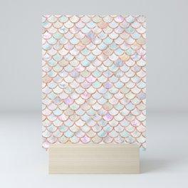 Pastel Memaid Scales Pattern Mini Art Print
