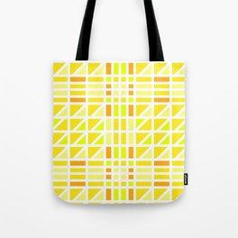 Blazing Yellow Mosaic Tote Bag