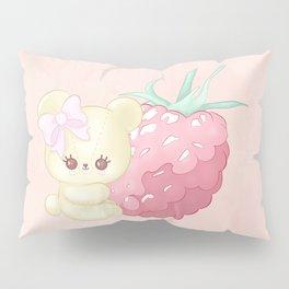 Raspberry Cutie Bear Pillow Sham