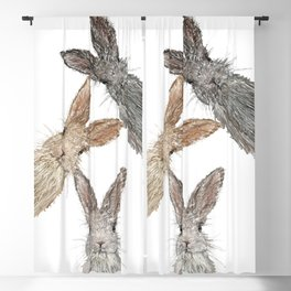 Triple Bunnies Blackout Curtain