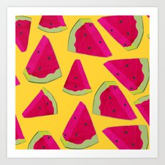 watermelon love Art Print