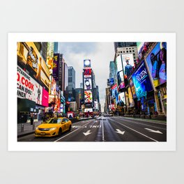 First light in Times Square Art Print