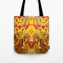 Oriental Style Swirls and Curls Tote Bag