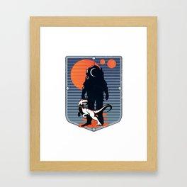 The Astronaut's Pet Framed Art Print