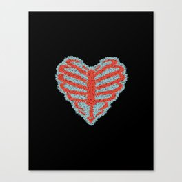 RAB Skeleton Heart Canvas Print