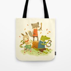Counting with Barefoot Critters Tote Bag