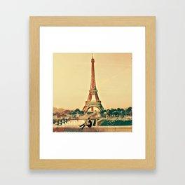Sitting in Paris Framed Art Print