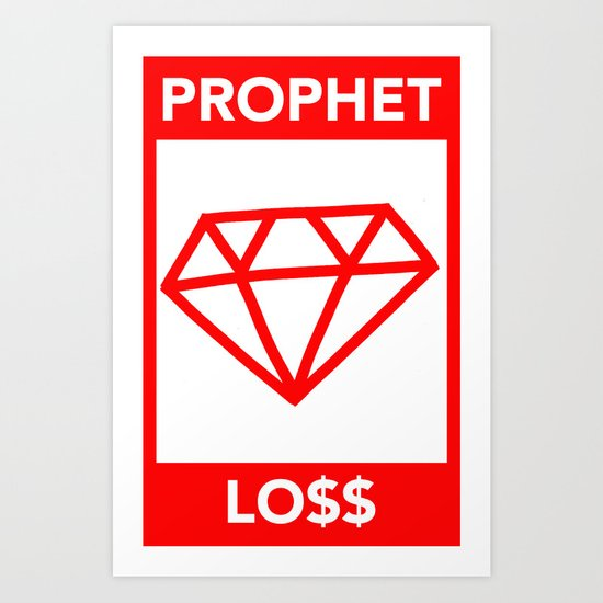 P&Ls: Diamond Red Art Print