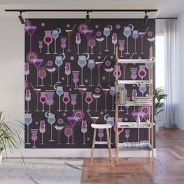 Retro Vintage Cocktail Pattern 1 Wall Mural