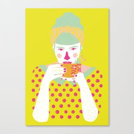 a cup of tea a day Canvas Print