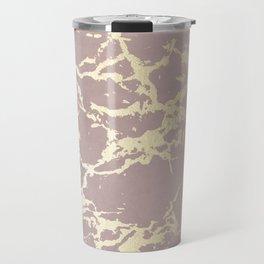 Kintsugi Ceramic Gold on Clay Pink Travel Mug