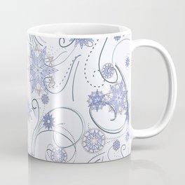 Whirly Snowflakes lt blue Coffee Mug