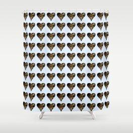 cute kitten in a heart 2-  Leon Huber - A basket full of cat Shower Curtain