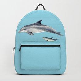 Blue Bottlenose dolphin Backpack
