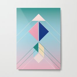 Tangram Arrow For Metal Print