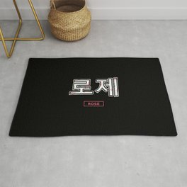 Rose Blackpink hangul Rug