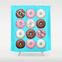 Donuts Party Shower Curtain
