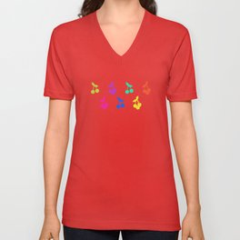 Rainbow cherries Unisex V-Neck