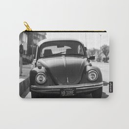Hermosa Beach Surf Bug, Black and White Photography Print, Beach Art, South Bay Los Angeles Art Carry-All Pouch