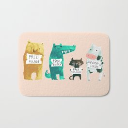 Animal idioms - its a free world Bath Mat