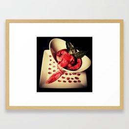 Intestinal Soup & Pomegranate Seeds Framed Art Print