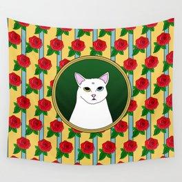 Fat D. Loves Roses Wall Tapestry