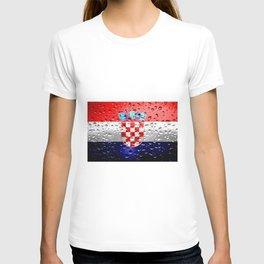 Flag of Croatia - Raindrops T-shirt