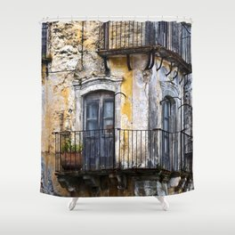 Urban Sicilian Facade Shower Curtain