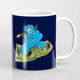 Blue monster dj hip hop Coffee Mug