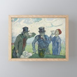 The Drinkers, Vincent van Gogh, 1890 Framed Mini Art Print
