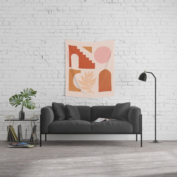 Abstraction_SHAPES_Architecture_Minimalism_002 Wall Tapestry