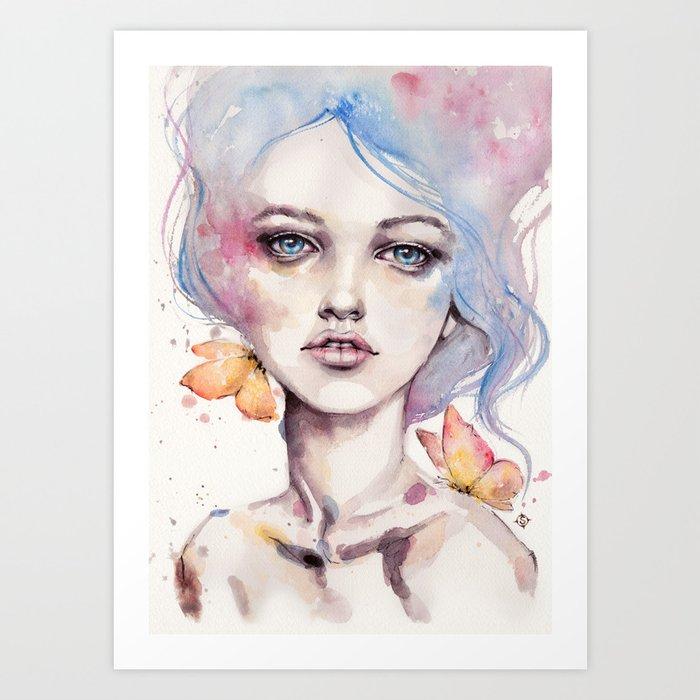 With Elegance (female Portrait) Art Print