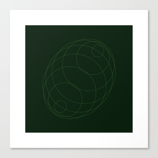 #298 Echo chamber – Geometry Daily Canvas Print