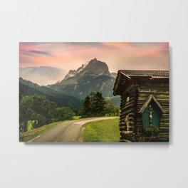 Alm Alpine Hut Alpine Hiking Mountain Travel Metal Print